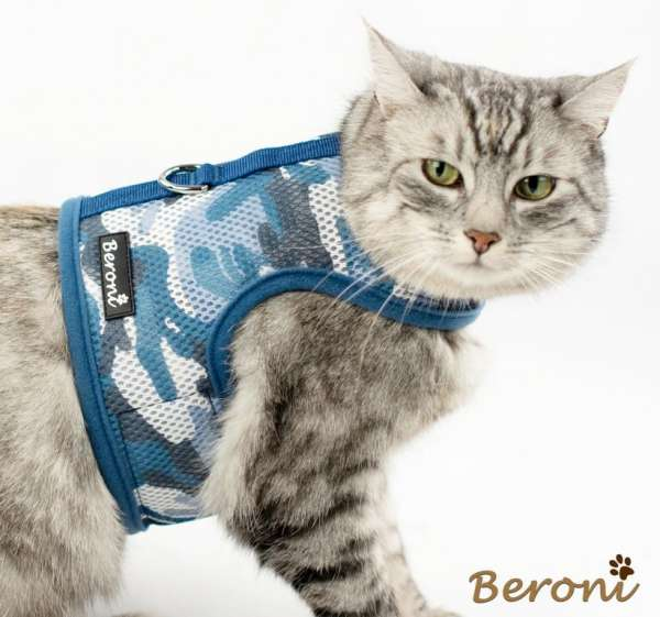 weste für katzen blau katzengeschirr