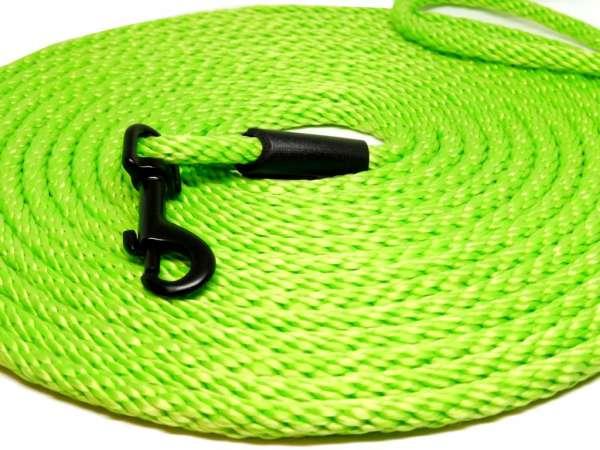 Hochwertige runde Katzenleine / Schleppleine 5 oder 10 Meter Länge neon grün