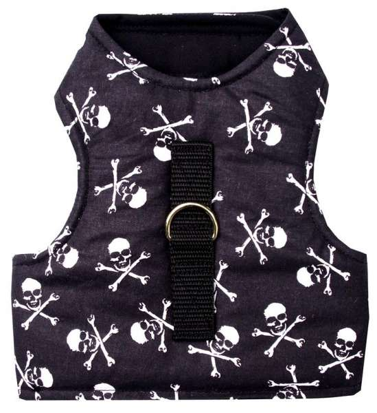 Hochwertiges Katzengeschirr Pirate Skull ausbruchsicher MADE IN GERMANY