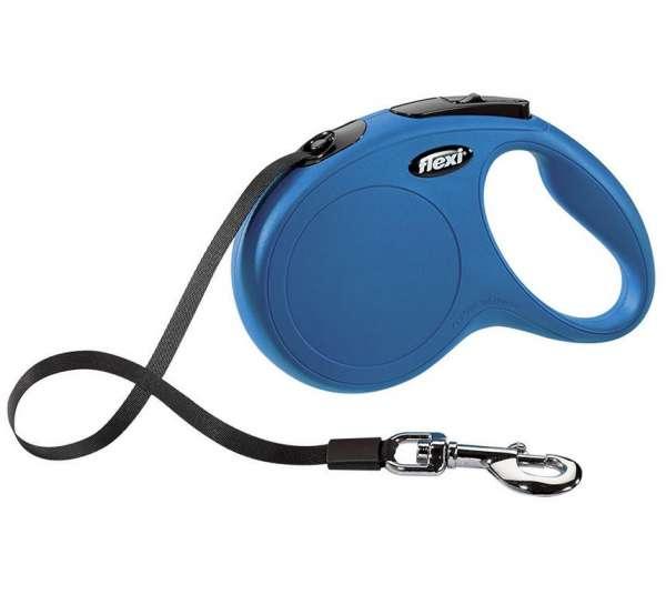Flexi Katzenleine Roll-Gurtleine 5 Meter blau